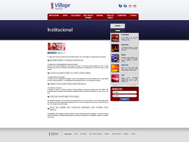 CRIAÇÃO DE SITES: WEBSITE VILLAGE MOTEL – WORDPRESS