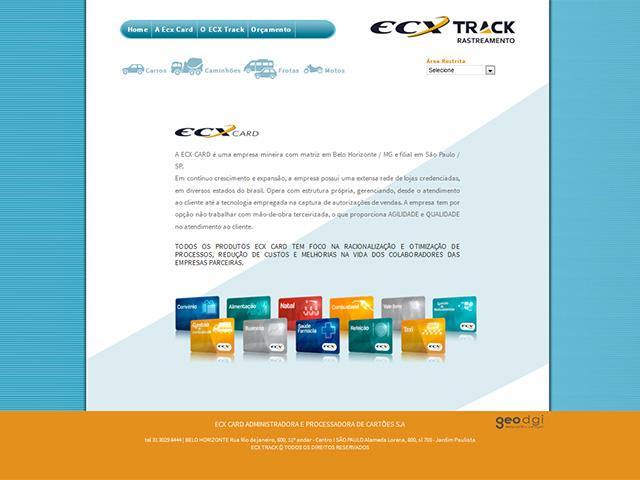 CRIAÇÃO DE SITES: WEBSITE ECX TRACK
