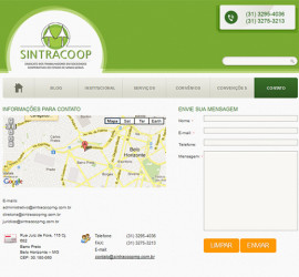 CRIAÇÃO DE SITES: WEBSITE SINTRACOOP – WORDPRESS