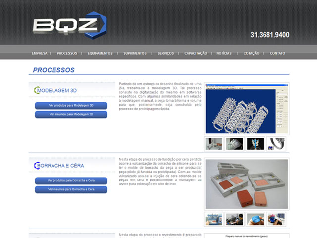 CRIAÇÃO DE SITES: WEBSITE BQZ