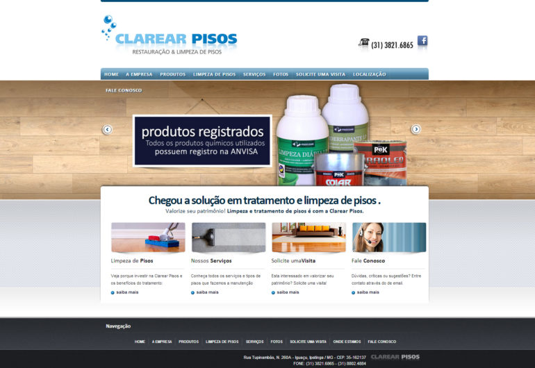 CRIAÇÃO DE SITES: WEBSITE CLAREAR PISOS – WORDPRESS