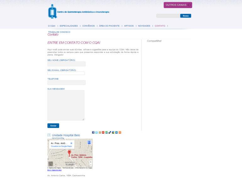 CRIAÇÃO DE SITES: WEBSITE CQAI – WORDPRESS
