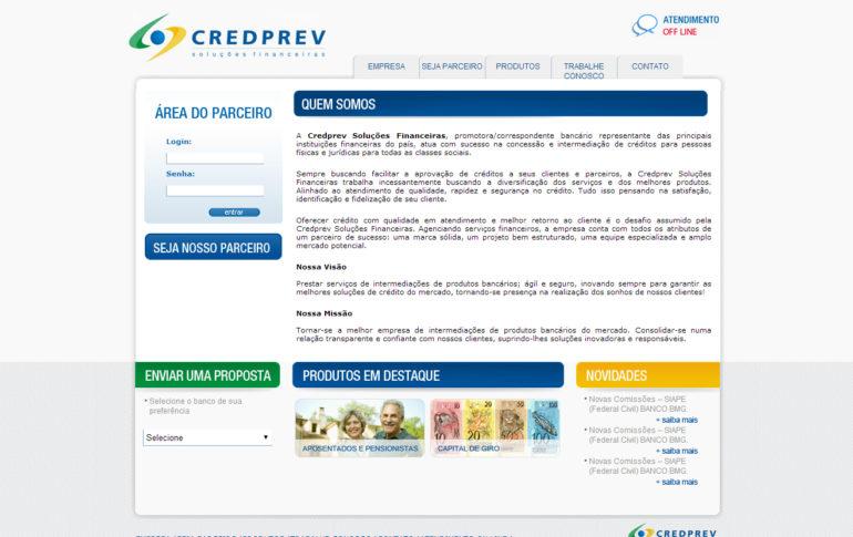 CRIAÇÃO DE SITES: WEBSITE CREDPREV – WORDPRESS