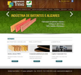 CRIAÇÃO DE SITES: WEBSITE COMPENSADOS TREVO – WORDPRESS