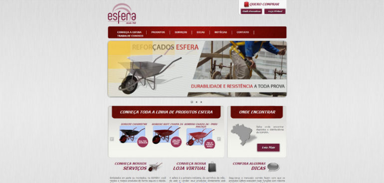CRIAÇÃO DE SITES: WEBSITE ESFERA