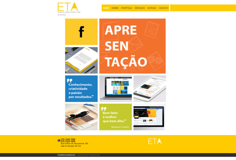 CRIAÇÃO DE SITES: WEBSITE ETA DESIGN – WORDPRESS