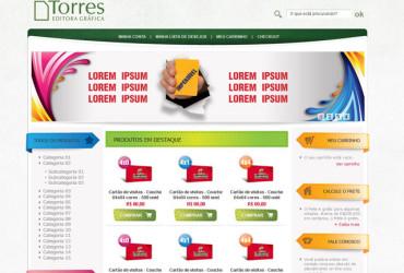 CRIAÇÃO DE SITES: WEBSITE GRÁFICA TORRES – LOJA VIRTUAL