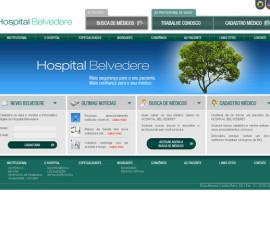 CRIAÇÃO DE SITES: WEBSITE HOSPITAL BELVEDERE
