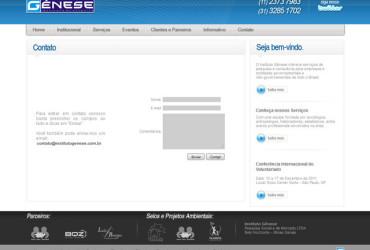 CRIAÇÃO DE SITES: WEBSITE INSTITUTO GÊNESE