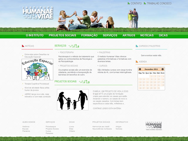 CRIAÇÃO DE SITES: WEBSITE INSTITUTO HUMANAE VITAE