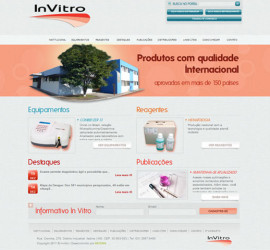 CRIAÇÃO DE SITES: WEBSITE INVITRO