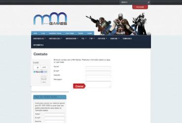 CRIAÇÃO DE SITES: WEBSITE MM GAMES – WORDPRESS