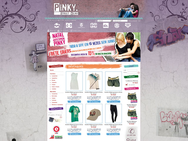 CRIAÇÃO DE SITES: WEBSITE PINKY – LOJA VIRTUAL