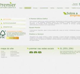 CRIAÇÃO DE SITES: WEBSITE GRÁFICA PREMIER