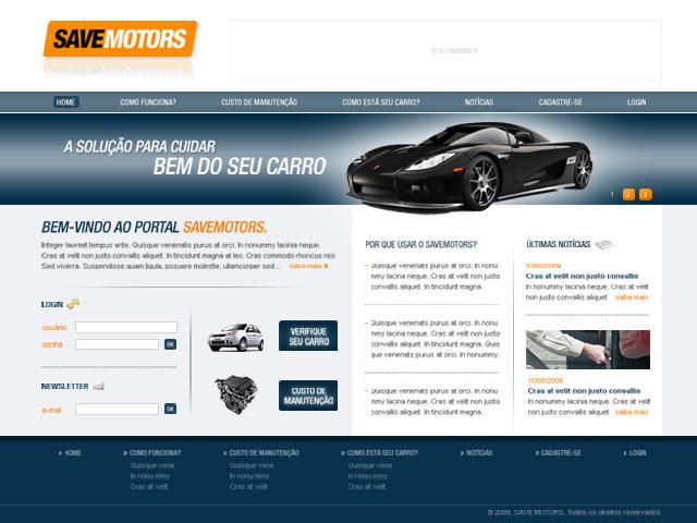 CRIAÇÃO DE SITES: PORTAL SAVE MOTORS