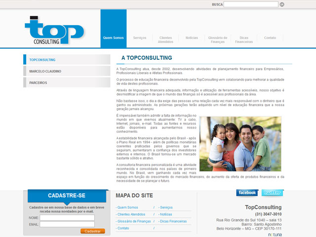 CRIAÇÃO DE SITES: WEBSITE TOP CONSULTING
