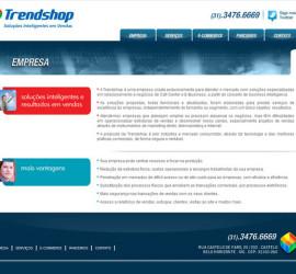CRIAÇÃO DE SITES: WEBSITE TRENDSHOP