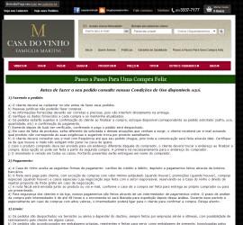 CRIAÇÃO DE SITES: WEBSITE CASA DO VINHO – LOJA – WORDPRESS