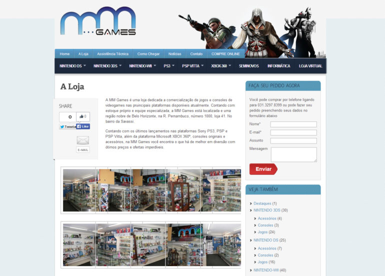 CRIAÇÃO DE SITES: WEBSITE MM GAMES – WORDPRESS