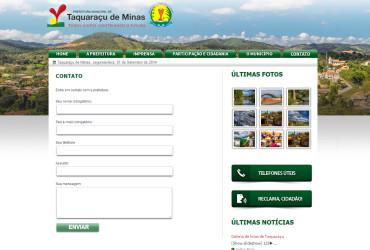 CRIAÇÃO DE SITES: WEBSITE PREFEITURA DE TAQUARAÇU DE MINAS – WORDPRESS