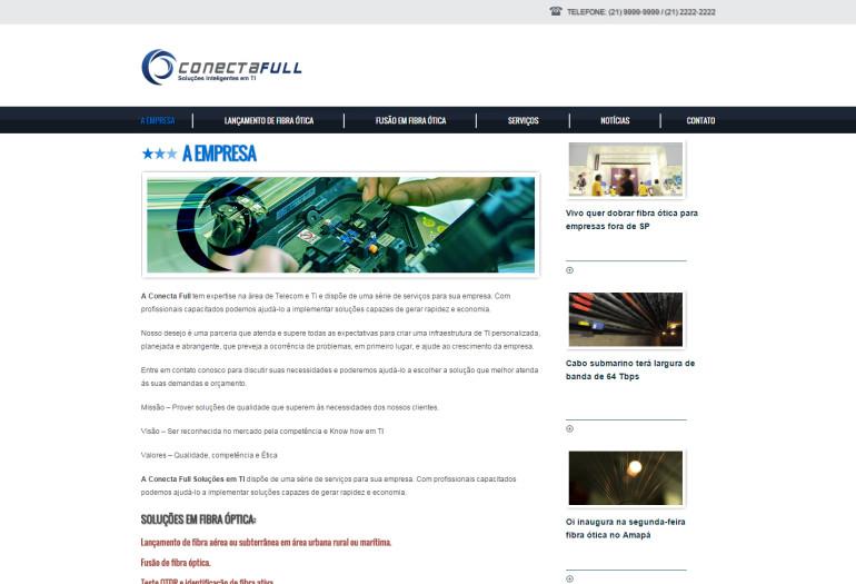 CRIAÇÃO DO SITE CONECTA FULL: WEBSITE WORDPRESS