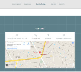 CRIAÇÃO DE SITES:  WEBSITE LUMINA DESIGN – WORDPRESS RESPONSIVO