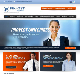 CRIAÇÃO DO SITE PROVEST UNIFORMES: WEBSITE WORDPRESS