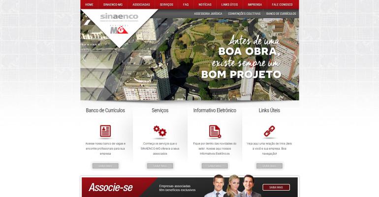 CRIAÇÃO DE SITES: WEBSITE SINAENCO/MG – WORDPRESS